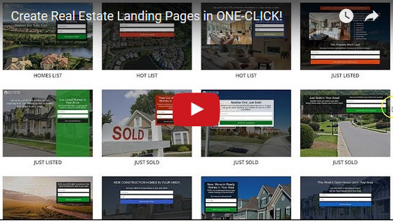 Create Real Estate Landing Pages in ONE-CLICK!